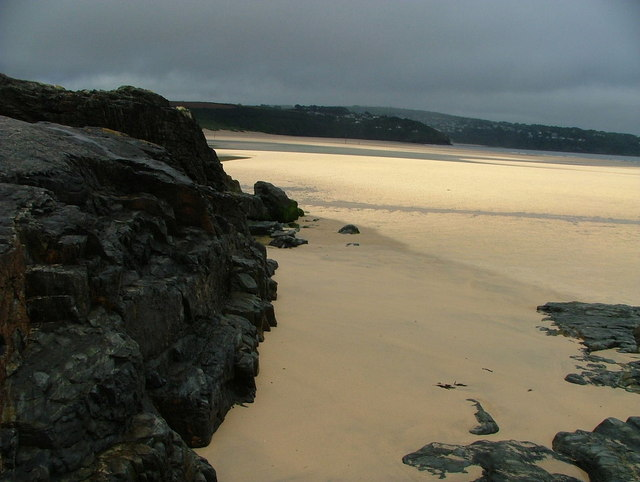 Black Cliff viewed towards the Hayle River