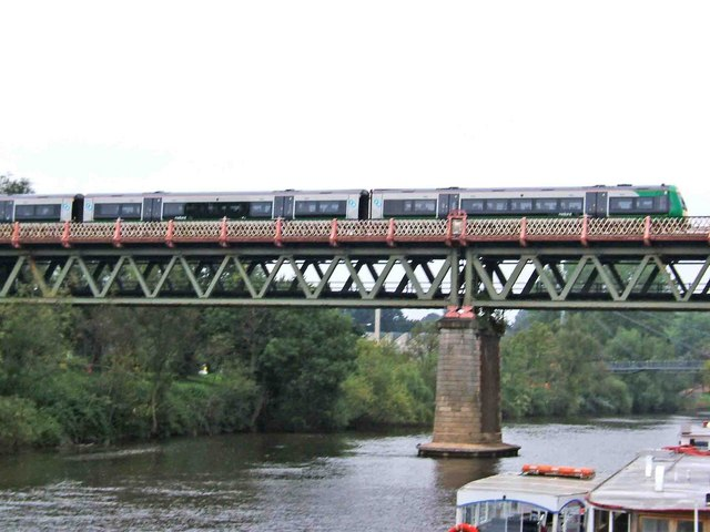 Train crossing the River Severn