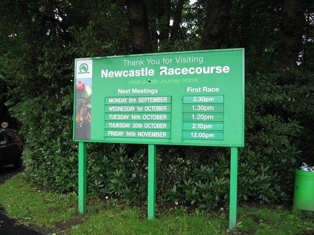 Newcastle Racecourse Information Board