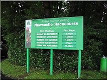 NZ2471 : Newcastle Racecourse Information Board by Antonia
