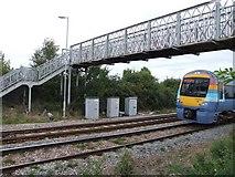 TL4197 : Lime Grove footbridge. by Tony Bennett