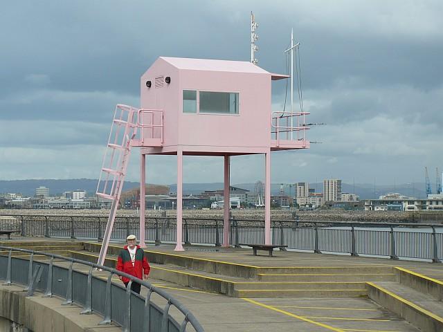 The Pink Hut, Cardiff Barrage