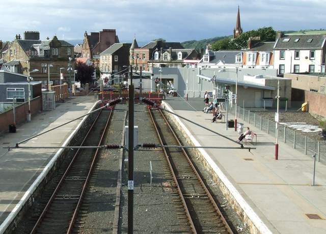 Largs railway station by Thomas Nugent