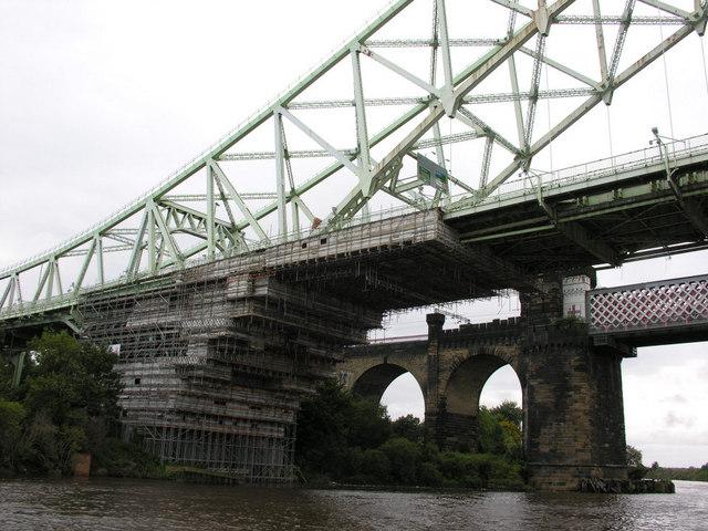 Road and rail bridges at Runcorn