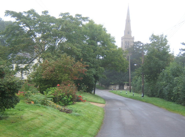 Lane to the church, Catworth