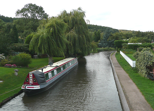 The Birmingham and Fazeley Canal at Hopwas, Staffordshire