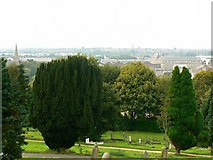 SU1484 : View from Radnor Street, cemetery, Swindon by Brian Robert Marshall