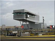 ST1972 : Cardiff Bay Barrage Control Centre by Robin Drayton