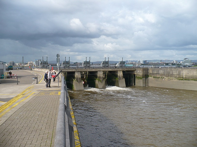 Sluices at the Cardiff Bay Barrage