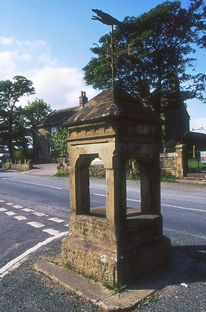 Stone memorial with weather vane, Tosside
