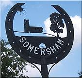 TM0848 : Somersham village sign by Andrew Hill