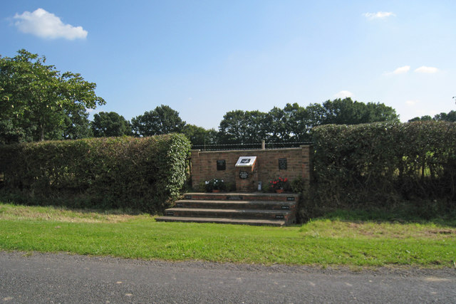 Memorial on Bedlam Lane, near Egerton, Kent