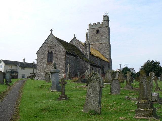 Graveyard outside Llandenny Church