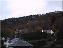 NN6208 : Callander Crags Rise behind the Town by Sarah Charlesworth