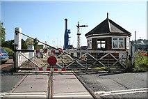 TF3243 : London Road level crossing by Richard Croft