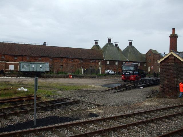 Dereham Maltings and Dereham station goods yard