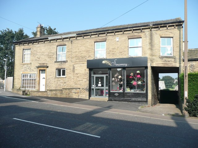 New shop in the old co-op, New Hey Road, Rastrick