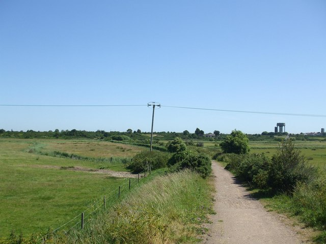 Southwold footpath and former Railway trackbed
