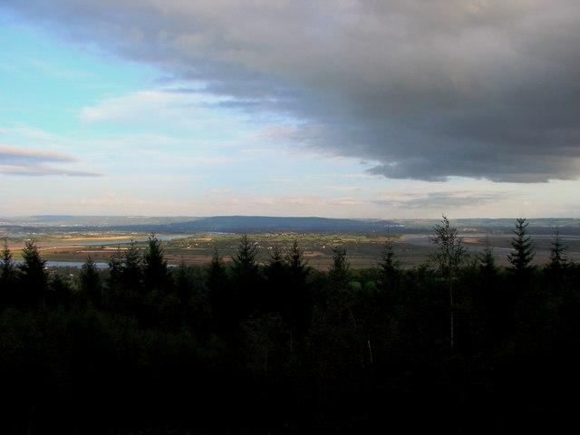 Blaize Bailey viewpoint above Newnham, view towards Arlingham