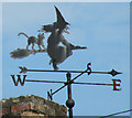 TL5457 : Weather vane on Bramble Cottage by Keith Edkins
