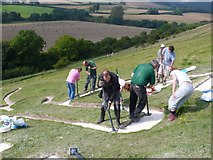 ST6601 : Cerne Abbas Giant Renovation (3) by Nigel Mykura