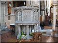 TQ3369 : Pulpit of St John's church by Stephen Craven