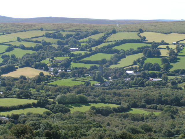Widecombe-in-the-moor and the surrounding area
