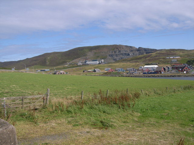 Looking towards the East Voe of Scalloway