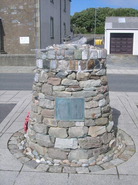 Shetland Bus memorial