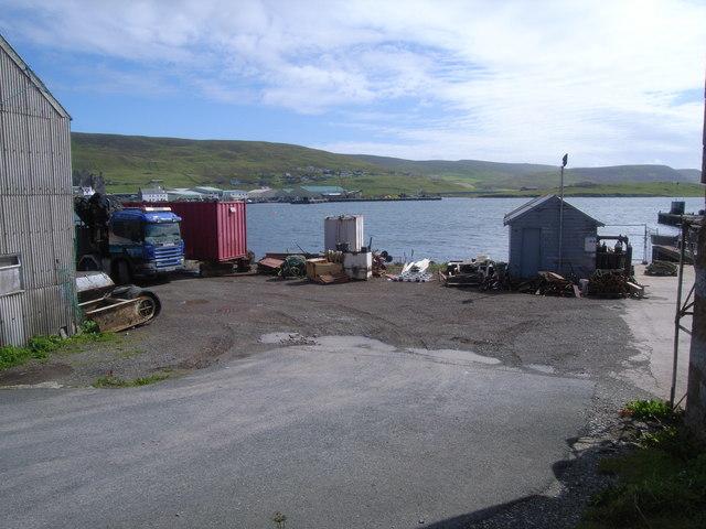 Yard at shore of Blacks Ness, Scalloway