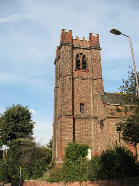 Tower of St Luke's church, Charlton