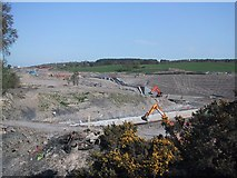 NS8579 : Basin beyond the Top of the Falkirk Wheel under Construction by Sarah Charlesworth