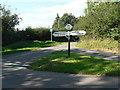 ST7808 : Ibberton: Leigh Cross finger-post by Chris Downer