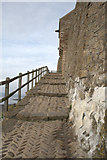 NU1341 : The Steps to The Castle Front Door by David Lally