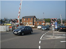 SX9193 : Level crossing, Exeter St David's by Roger Cornfoot