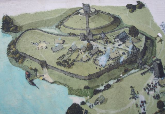 Display Board of Huntingdon Hill Motte and Bailey Castle