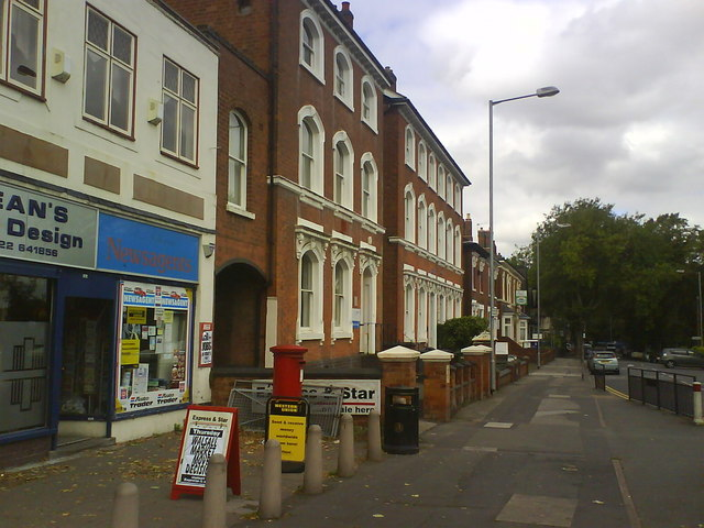 Birmingham Road at Six Ways
