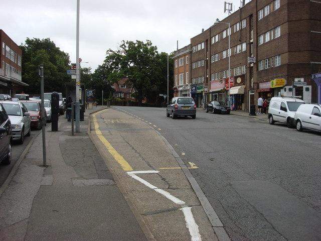 Bus stop on Green Lane