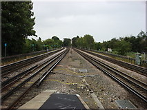 TQ1090 : Metropolitan railway line just east of Northwood Hills tube station by Oxyman