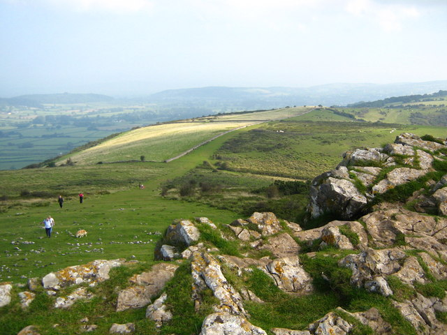 Crook Peak towards Compton Hill