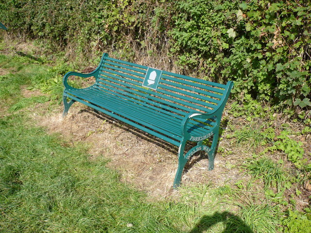 Bench seat alongside The Wolds Way