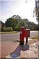 TQ3194 : George V Pillar Box on corner of Seaforth Gardens and Broad Walk, London N21 by Christine Matthews