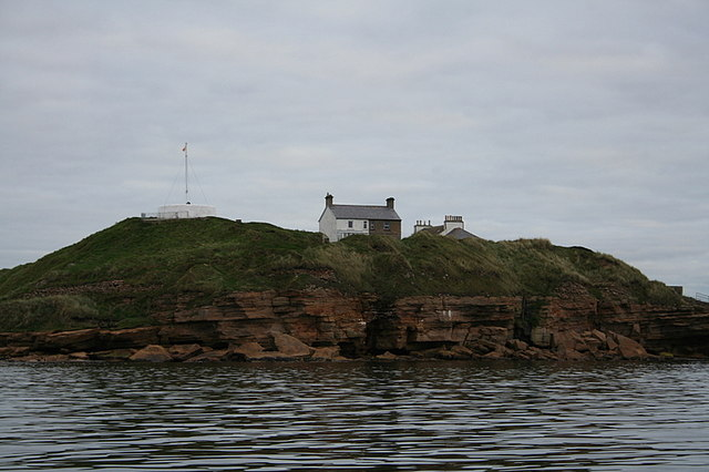 The fort to the north of Burghead harbour
