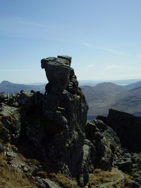 Central peak, The Cobbler