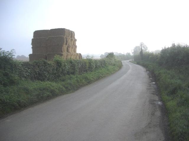 Road & Giant Haystack at Alexander Reid near Navan, Co. Meath