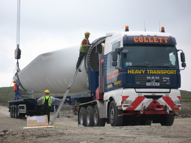 Turbine Blade Delivery to Tower No 23