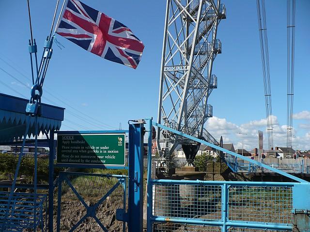 Leaving the western end of Newport Transporter Bridge by Robin Drayton