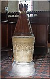 SE3766 : St Mary, Roecliffe, North Yorkshire - Font by John Salmon