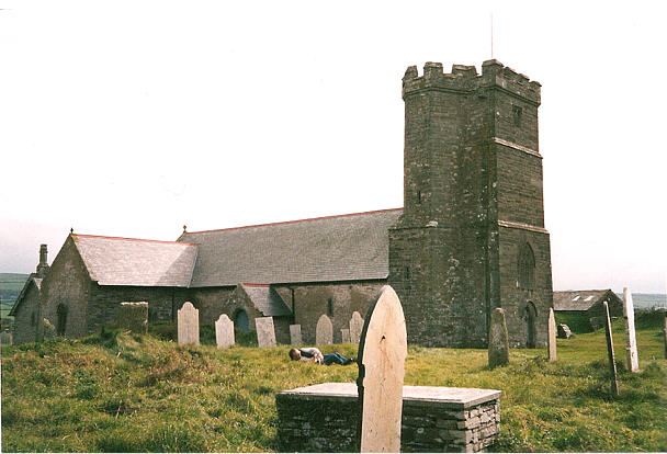 The Graveyard at Tintagel  Church