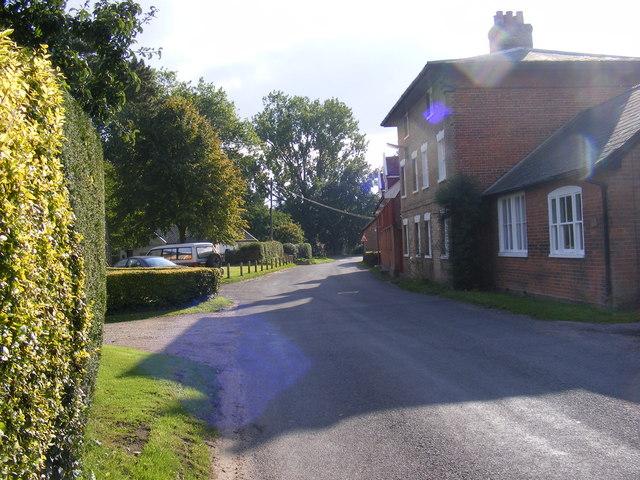Entering Peasenhall on Sibton Road